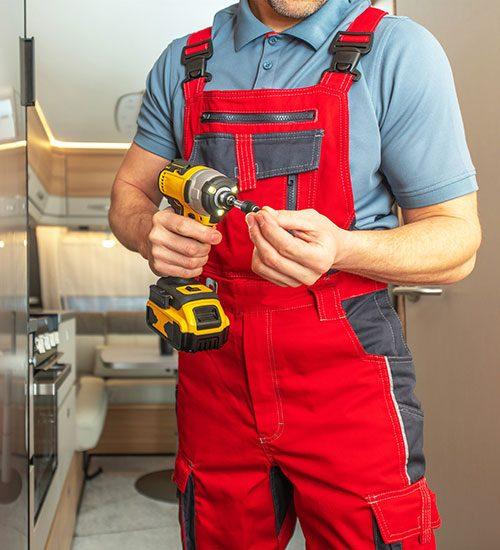 tradesman performing service